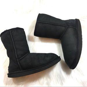 Short UGG Boots, Black, Size 8